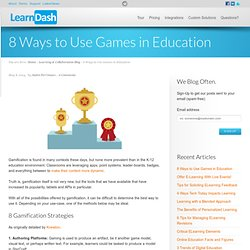 8 Ways to Use Games in Education