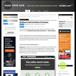 49 Ways to Get Free MusicPromotion