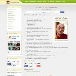 20 Ways to Get Good Karma - By The Dalai Lama
