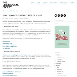 5 Ways to Get Review Copies of Books