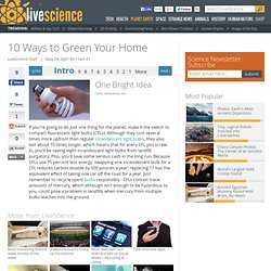 10 Ways to Green Your Home