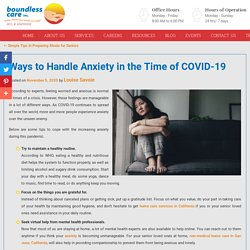 Ways to Handle Anxiety in the Time of COVID-19