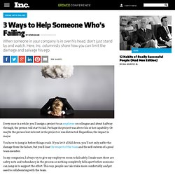 3 Ways to Help Someone Who's Failing