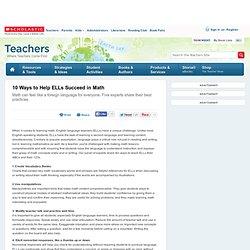 10 Ways to Help ELLs Succeed in Math