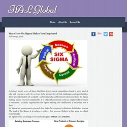 Ways How Six Sigma Makes You Employed