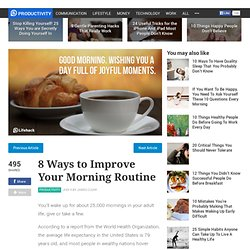 8 Ways to Improve Your Morning Routine