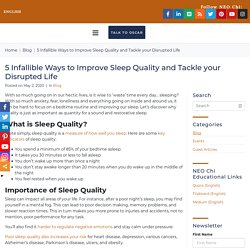 Ways to Improve Sleep Quality in San Jose