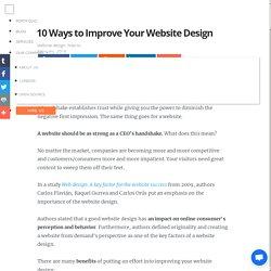 10 Ways to Improve Your Website Design
