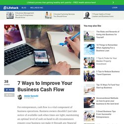 7 Ways to Improve Your Business Cash Flow