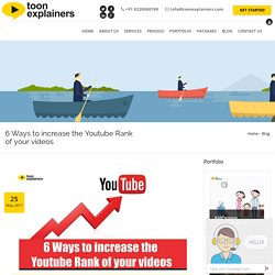 6 Ways to increase the Youtube Rank of your videos
