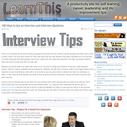 100 Ways to Ace an Interview and Interview Questions