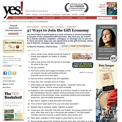 37 ways to join the Gift Economy
