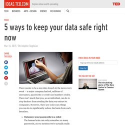 5 ways to keep your data safe right now