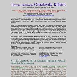 Ways not to kill classroom creativity