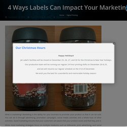 4 Ways Labels Can Impact Your Marketing