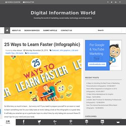 25 Ways to Learn Faster (Infographic)