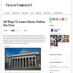 40 Ways To Learn Music Online For Free