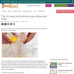 Top 10 ways with leftover egg whites and yolks
