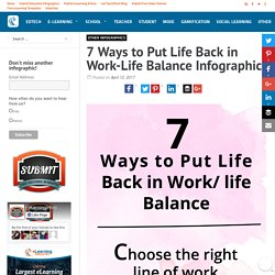 7 Ways to Put Life Back in Work-Life Balance Infographic