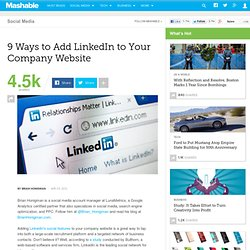 9 Ways to Add LinkedIn to Your Company Website