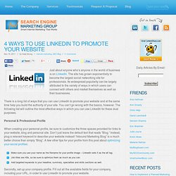 4 Ways to Use LinkedIn to Promote Your Website