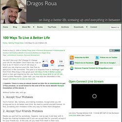 A Better Life In 100 Ways