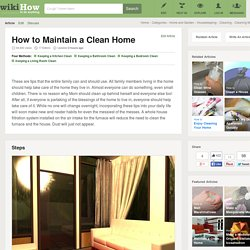 4 Ways to Maintain a Clean Home