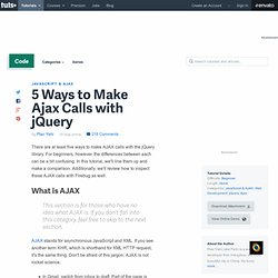 5 Ways to Make Ajax Calls with jQuery