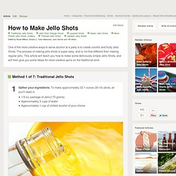 How to Make Jello Shots (with pictures)