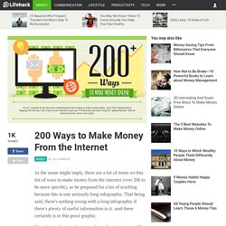 200 Ways to Make Money From the Internet