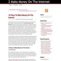 2 Make Money On The Internet - StumbleUpon