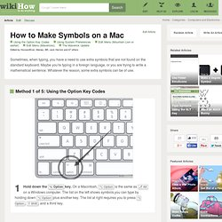 How to Make Symbols on a Mac: 12 steps