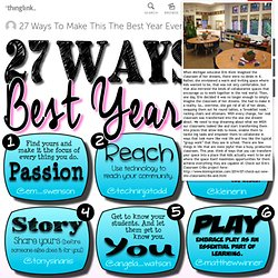 27 Ways To Make This The Best Year Ever!!