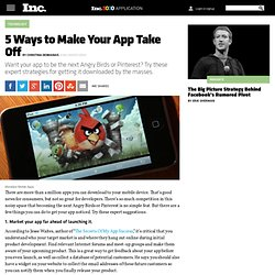 5 Ways to Make Your Mobile App Take Off