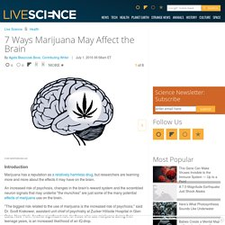 7 Ways Marijuana May Affect the Brain
