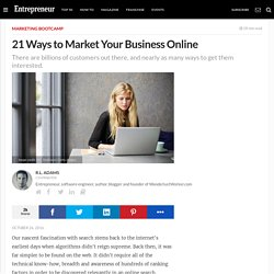 21 Ways to Market Your Business Online
