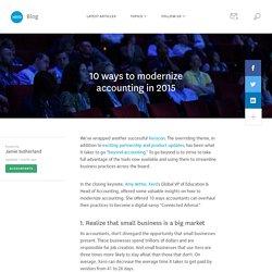 10 ways to modernize accounting in 2015 - Xero Blog