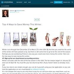 Top 4 Ways to Save Money This Winter: juliaarora
