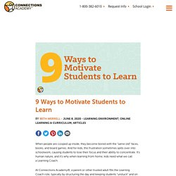 9 Ways to Motivate Students to Learn