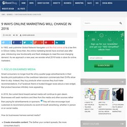 9 Ways Online Marketing Will Change in 2016