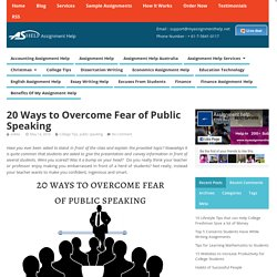 20 ways to overcome fear of public speaking