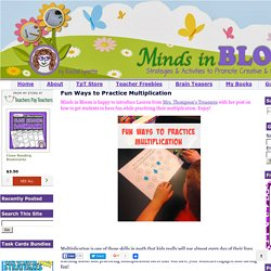 Minds in Bloom: Fun Ways to Practice Multiplication
