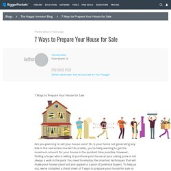 7 Ways to Prepare Your House for Sale