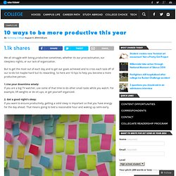 10 ways to be more productive this year
