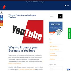 Ways to Promote your Business in YouTube -