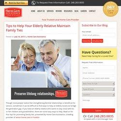 4 Ways to Promote Seniors' Family Ties