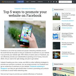 Top 5 ways to promote your website on Facebook