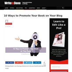 10 Ways to Promote Your Book on Your Blog
