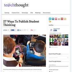 27 Ways To Publish Student Thinking