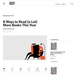 8 Ways to Read (a Lot) More Books This Year